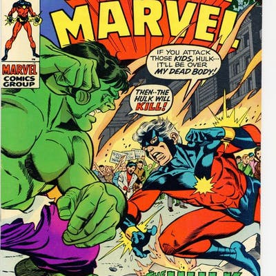 Captain Marvel (1968 1st Series Marvel) 21 FN+ 6.5
