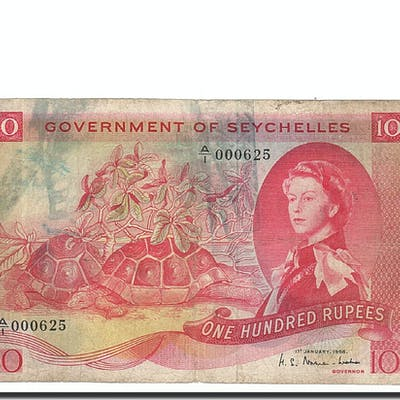 Banknote, Seychelles, 100 Rupees, 1968, 1968-01-01, KM:18a, F(12-15)