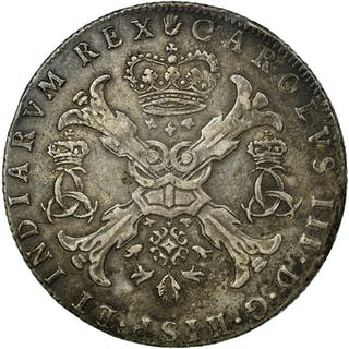 Coin, Spanish Netherlands, BRABANT, Archduke Charles as Charles III, Patagon