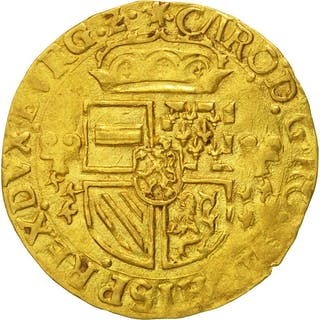 Coin, Spanish Netherlands, BRABANT, Charles Quint, Ecu d'or, 1554, Anvers