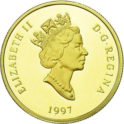Coin, Canada, Elizabeth II, 100 Dollars, 1997, Royal Canadian Mint, Ottawa