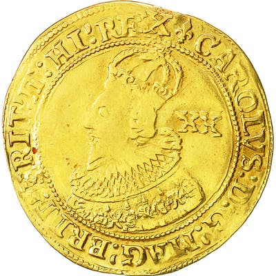 Coin, Great Britain, Charles I, Unite, Tower, EF(40-45), Gold, KM:150