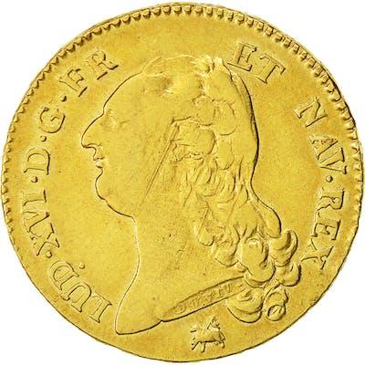 Coin, France, Louis XVI, Double louis d'or à la tête nue, 1786, Rouen