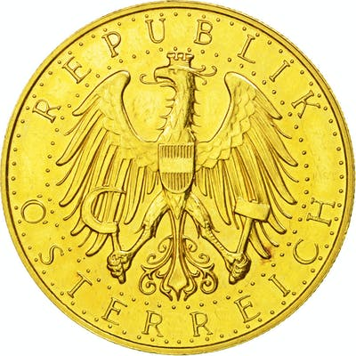 Coin, Austria, 100 Schilling, 1927, AU(55-58), Gold, KM:2842
