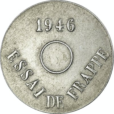 Coin, France, Lindauer, 20 Centimes, 1946, Essai de frappe, AU(55-58), Aluminum