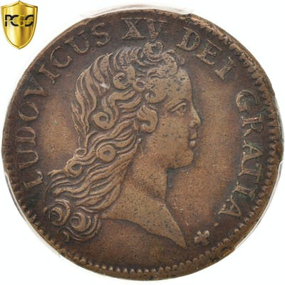 Coin, France, Louis XV, Sol au buste enfantin, Sol, 1720, Paris, PCGS, XF45