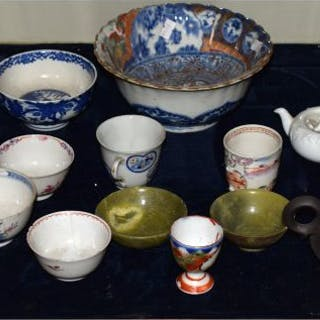 Two jade bowls, quantity of Oriental porcelain...