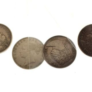 Coins - Four half crowns (George III 1816,...