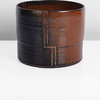 Cylindrical Vessel, circa 1990 - Mette Augustinus Poulsen (Danish, b.1945)