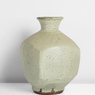 Faceted Bottle  - Hamada Shoji (Japanese, 1894-1978)