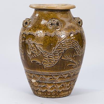GOLVURNA, keramik, Kina, 1900-tal.