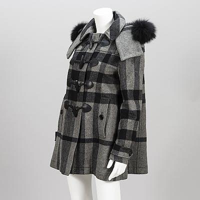 BURBERRY Brit duffel coat in size 10(UK).