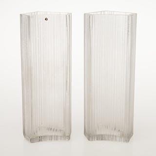 TAPIO WIRKKALA, two '3504' vases, signed Tapio Wirkkala.