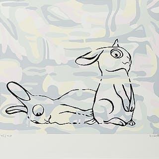 MARIANNE LINDBERG DE GEER, silkscreen in colours, signed 45/90.