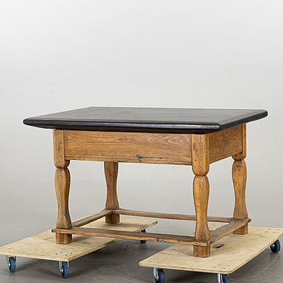 A STONE TOP TABLE, 19th century.