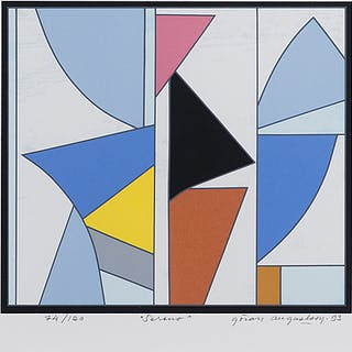 GÖRAN AUGUSTSON, serigraph, signed and dated -93, numbered 74/120.
