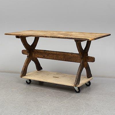 A 19th century folk art table.