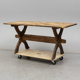 A 19th century folk art table.