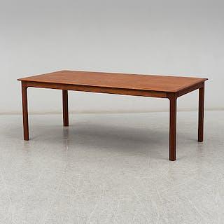 A 1960-70's teak coffee table.