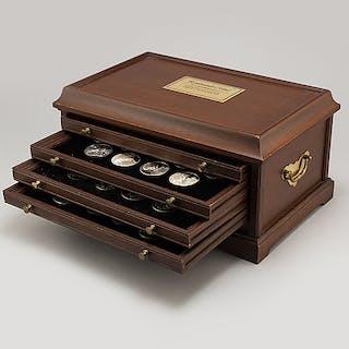 50 sterling silver medals, 'Rembrandt i silver', Franklin Mint AB, 1974.