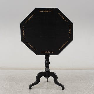 A painted table, mid 19th Century.