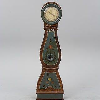 A Swedish longcase clock, early 19th century.