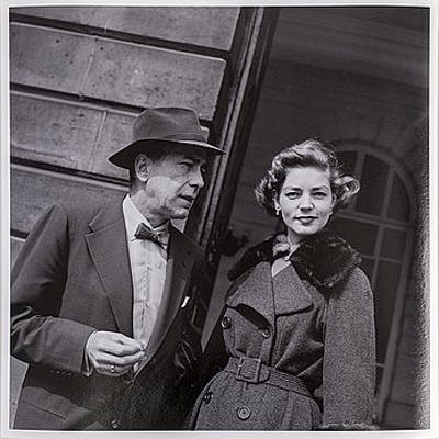 PER-OLOW ANDERSON, photograph of Bogart and Bacall in Paris 1954, edition 3/15.