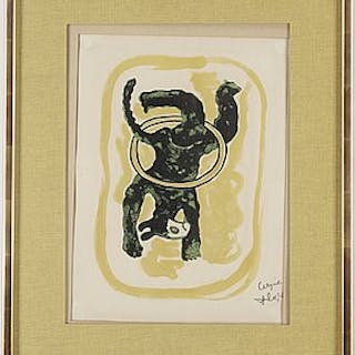 "FERNAND LÉGER, lithograph in colour, from ""Cirque"", 1950, bears signature."