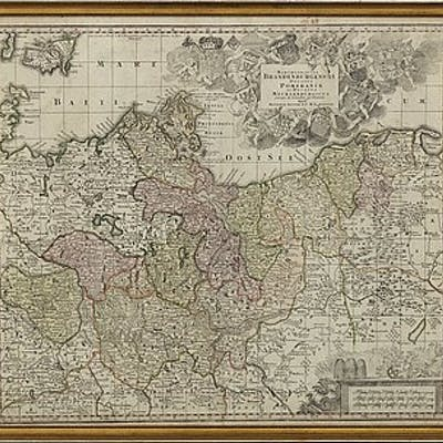 MATTHÄUS SEUTTER - MAP, 'Marchionatus Brandenburgensis, Ducatus Pomeraniae