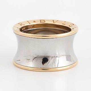 """Bulgari """"B.zero 1 Anish Kapoor'. 18K gold and steel ring."""