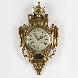 A Gustavian wall clock, dial signed Petter Lundmark, Stockholm. Late