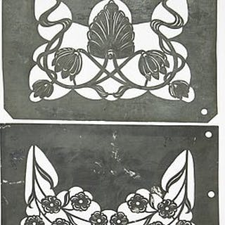 Eleven Swedish Art Nouveau stencils by R.F Cleve