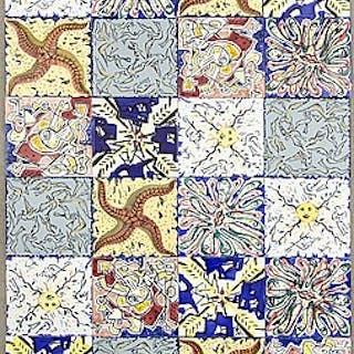SALVADOR DALÍ, after, 29 packages x 6 pieces of tiles + 7 loose tiles