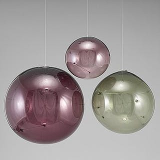 TIMO SARPANEVA, 3 glass balls, 'Aurinkopallo'  Iittala, 1970s.