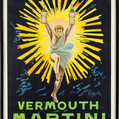LENOETTO CAPPIELLO, Litografisk affisch, Vermouth Martini, Tipografia