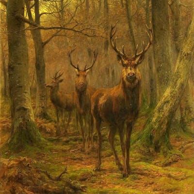 Rosa Bonheur, Monarch of the Forest (1886)