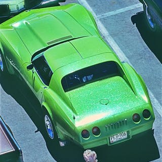 Mitchell Funk, Hot Green Car in Las Vegas (Frame 2) (1975)
