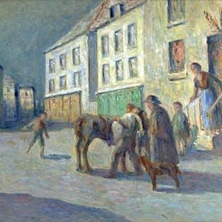 Maximilien Luce, Le Depart (1880-1890)