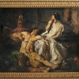 Johannes Hendricus Jurres, Samson and Delilah (ca. 1900)
