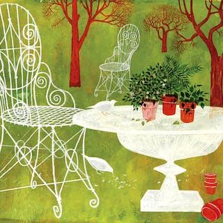 Lorraine Fox, Garden Scene (1950-1960)