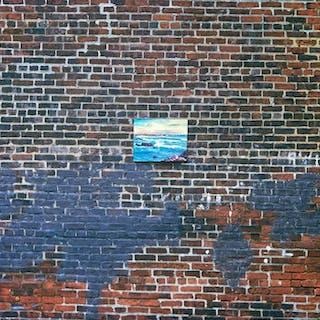 Robert Funk, Seascape in brickwall (1972)