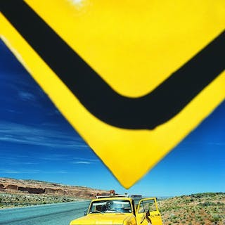 Mitchell Funk, Yellow Sign, Utah Road (1975)