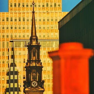 Mitchell Funk, St. Paul's Chapel,  Lower Manhattan (1974)