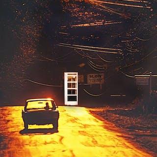 Mitchell Funk, Surreal Road Litchfield Connecticut (1970)