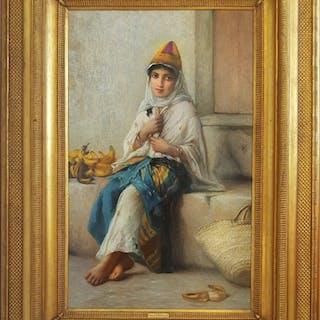 Charles Landelle, Petite Marchande de Banane - Orientalist (ca. 1880)