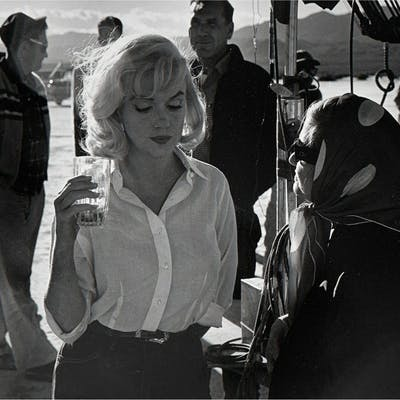 Ernst Haas, Marilyn Monroe with Paula Strasberg (1960) | Barnebys