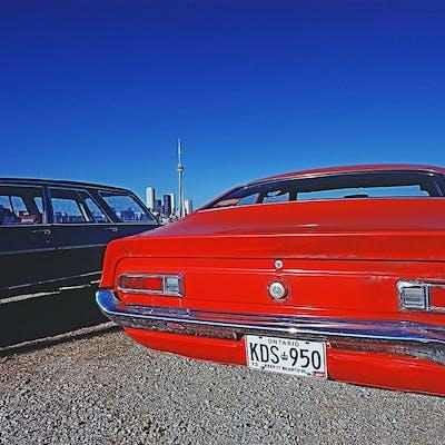 Mitchell Funk, Red Car Back Toronto (1973)