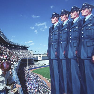 Robert Funk, Four Sailors visit Yankee Stadium (1975)