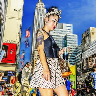 Mitchell Funk, Tattoo Girl Empire State Building (2014)