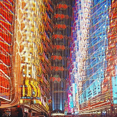 Mitchell Funk, Casino Lights Las Vegas, Multiple Exposure (1974)